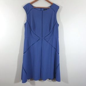 Adrianna Papell periwinkle sleeveless dress 16 W